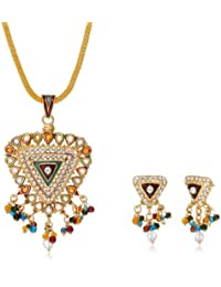 Aakhi Colourful Pearl Drop Jewellery Set for Women (AKS_ST_TRI)