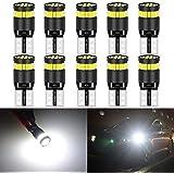 KaTur 194 Ampoule LED Blanc 168 2825 W5W T10 24-SMD 3014 Chips LED Ampoules de Rechange CANBUS sans Erreur Lumières de Plaque d'immatriculation de Porte de Carte de dôme de Voiture (10pcs, Blanc)