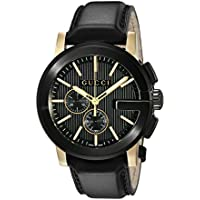Gucci G- Chrono Collection Chronograph Display Men's Quartz Watch (Black)