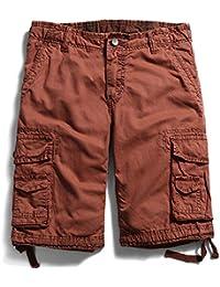 WDDGPZDK Strand Shorts  Mens Cargo Shorts Baumwolle Multi Pocket Fashion  Casual Kurze Hosen Big Size Mann Khaki Army… 5a33865f7f