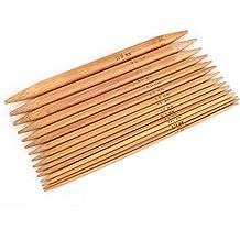 Stricknadeln Bambus 13 cm lang 9,00 mm Stärke  Nadelspiel