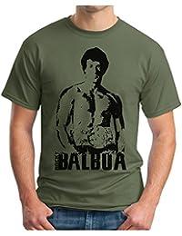 OM3 - ROCKY BALBOA - T-Shirt BOXER 70s 80s The ITALIEN STALLION USA, S - 5XL