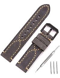 Bracelets de montre bracelet en cuir véritable bracelets de montre de remplacement pour les montres de sport en plein air, style militaire montres, montres de style rétro 18mm 20mm 22mm 24mm 26mm