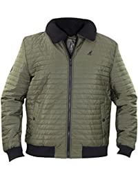 Kangol Mens Coat Bomber Heavy Padded Quilted Winter Jacket
