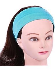 Funyye Fashion Frauen Lady Weiche Baumwolle Elastic Stretch Sport Schweißband Headbands Mädchen Haar Band Yoga Stirnband Turban Stirnband Haar-Band Zubehör - Licht Blau