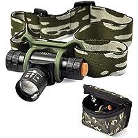 ESST Q5 300 LM 3 Modo LED Zoomable Linterna Faro Cabeza luz Bolsa Lámpara