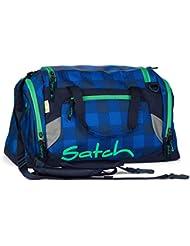 SATCH Bluetwist Sporttasche SAT-DUF-001-9A4, 50 cm, 25 L, Blue Grey Checks