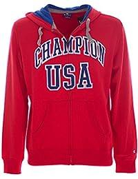 Champion sweat-shirt à capuche pour homme full zip et au champion DFP (Rouge)