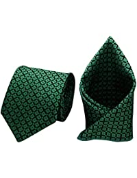 Forty Hands Men's Necktie & Pocket Square Combo (Green) (FTH85)