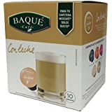 Cafés Baqué Cápsulas Compatibles Dolce Gusto Con Leche - 100 gr