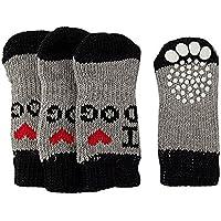Nicedeal 4pcs 9 * 4.8cm Calcetines Perro Mascota Protectores Patas Zapatos Transpirables Suministro de Mascotas para Perros