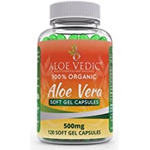 100% capsule naturali di Aloe Vera gel morbido - 500mg