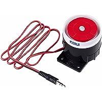 KERUI Nouvelle Mini Sirène Filaire Pour Mon 99 Zones RTC/GSM À Domicile D'alarme de Sécurité Système 120 dB Alarme Accessoires sirène - 120dB Sirène filaire Corne Président pour Système d'alarme de sécurité GSM