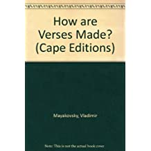 How are Verses Made? (Cape Editions)