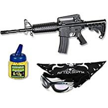 Pack Rifle Airsoft Colt M4 A1. Calibre 6mm. Potencia 0,8 Julios + Gafas antivaho + Biberon 1000 bolas