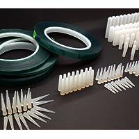 Juego de 380piezas resistentes al calor para revestimiento en polvo, incluye cintas de enmascarar, tapones de silicona cónicos y capuchones, resisten hasta 315ºC