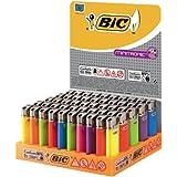 BIC Mechero minit Electronic j39, neutral, surtidos, 50 unidades, 1er Pack (1 x 50 unidades)