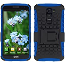 kwmobile Funda híbrida con soporte para LG G2 Mini en azul negro