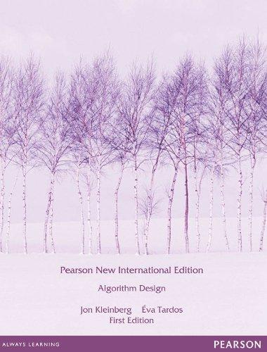 algorithm design by jon kleinberg and eva tardos