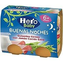 Hero Baby - Babynoches guisantes Tiernos Jamón Cocido 380 gr - Pack de 6 (Total 2280 gr)