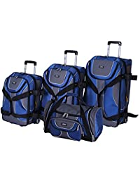 b68058b764 Lucas Luggage Sport 4-Piece Expandable Wheeled Upright Luggage Set