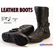 BOLT R45 IMPERMEABLE LARGO TURISMO MOTO CUERO PROTECCION BIKER BOTAS (42 EU/8 UK)