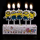 Partysanthe Minion Theme Birthday Candles - Pack of 5