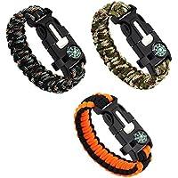 Pfeife Feuerstahl Messer Rabatte Verkauf Semptec 2er-set Survival-armband Mit Kompass Seil