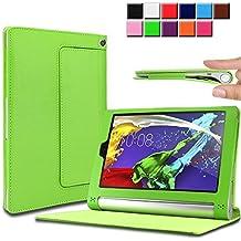 Infiland Lenovo Yoga Tablet 2 8 Funda Case-Folio PU Cuero Cascara Delgada con Soporte para Lenovo Yoga Tablet 2-8 20,32 cm (8 pulgadas) Tablet-PC Android y Windows Versión(con Auto Reposo / Activación Función)