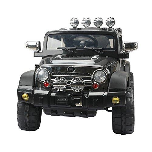 *Homcom® Elektroauto Kinderauto Kinderfahrzeug Kinder Elektro Auto Fahrzeug Spielzeug (Jeep/schwarz)*