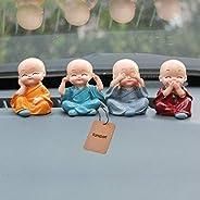 Jiada 4PCS Little Monk Cute Ornaments Car Interior Decoration Desk Décor