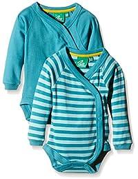 Little Green Radicals Turquoise Long Sleeve Baby Wrap 2-pack - Mono Bebé-Niños