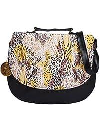 Fashion Knockout Fancy Stylish Tiger Print Sling/Side Bag Cross Body Purse For Women & Girls