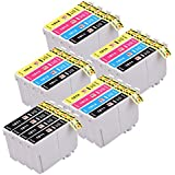 PerfectPrint - 20 Epson 18 XL Series cartuchos de tinta compatibles para Epson XP102 XP202 XP205 XP302 XP305 XP30 XP402 XP405 XP-412 XP-212 XP-215 XP-312 XP-315 XP-415. 8x T1811 Negro, 4x T1812 Cian, 4x T1813 Magenta 4x T1814 Amarillo