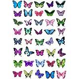 Lot de 40 Papillons Comestibles Couleurs Assorties par Cakeshop Basiques