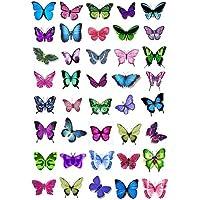 40 x Cakeshop decoración para pasteles comestibles en forma de Mariposas de color Colores mezclados