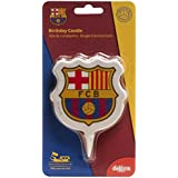 Dekora 346136 Vela de Cumpleaños 2D Escudo FC Barcelona, Multicolor, 8x2x12 cm