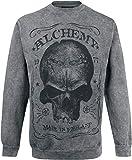 Alchemy England Skull Label Sweatshirt grau