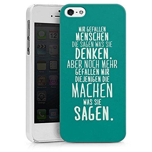 Apple iPhone SE Silikon Hülle Case Schutzhülle Sprüche Statement Spruch Hard Case weiß
