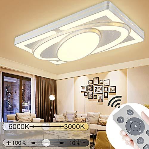 JINPIKER Deckenleuchte 78W Dimmbar Raumschiff LED Panel Deckenlampe Wohnzimmer Schlafzimmer Energieeinsparung Innen-Beleuchtung