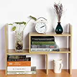 Cocoarm DIY Tisch Desktop Lagerregal Standregal Display Regal Organizer Tischorganizer Schreibtisch Tischregal Bücherregal Aufbewahrungsregal 3 Farbe (Holz)