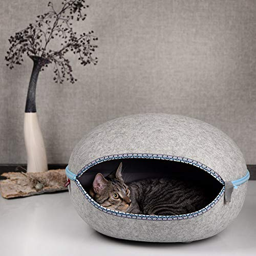 CanadianCat Company ® | Katzenhöhle, Katzenest Yukon in felsengrau - das Kuschelbett mit Stil