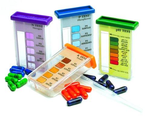 LU 1601 D 40 / Garten-Test Maxi / Bodentest-Kit / 40 Kapseln für je 10 Messungen (pH-Wert...