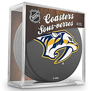 Sher-Wood Nashville Predators NHL Eishockey Puck Untersetzer (4er Set)