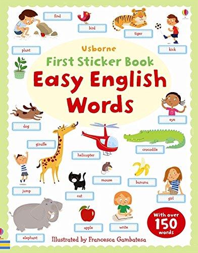 Easy English Words Sticker Book (First Sticker Books)