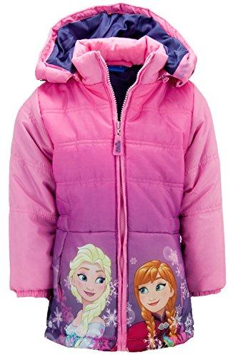 Dress-O-Mat Mädchen Winterjacke Jacke Wintermantel Anna & Elsa Frozen