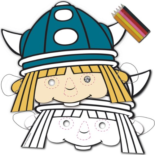 Wikinger Maske (Wickie Comic Wikinger Maske Kinderparty 8 St�ck)