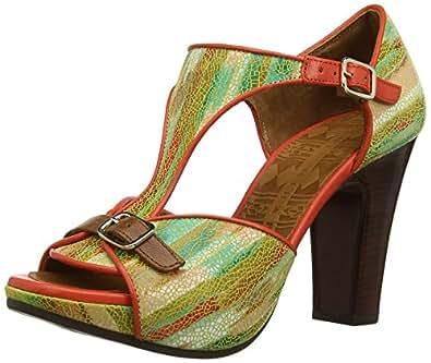 Chie Mihara Aplause(B India Multi Taichi Clavel, Sandales Femme - Multicolore (Multi), 38 EU