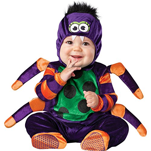ASVP Shop NEW BABY Jungen Mädchen Kleinkinder Animal Halloween Xmas Party Kostüm Jumpsuit Gr. 6-12 Monate, Itsy Bitsy Spider