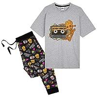Marvel Heren Pyjama Set, Guardians of The Galaxy Pyjama voor mannen met karakter Groot, 2 stuk Pjs Top en Lounge Broek, Geschenken voor mannen tieners